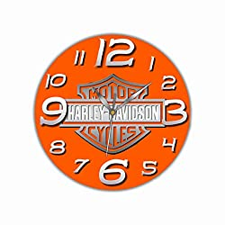 Art time production Harley-Davidson 11'' Handmade Wall Clock - Get Unique décor for Home or Office - Best Gift Ideas for Kids, Friends, Parents and Your Soul Mates