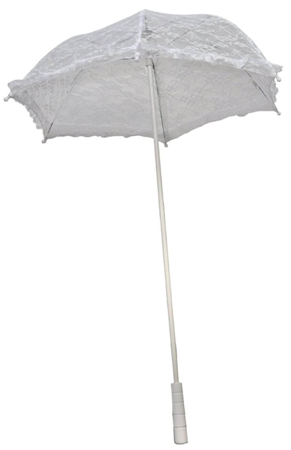 Vintage Style Parasols and Umbrellas Morris Custumes Womens Parasol Nylon Ruffle $22.30 AT vintagedancer.com