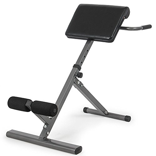 GUJJI FUN Roman Chair,Hyperextension Bench Adjustable 45 Degree AB Back Abdominal Exercise Machine