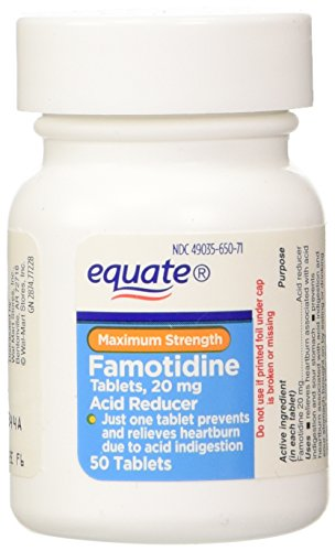 Equate - Acid Reducer, Maximum Strength, Famotidine 20 mg, 100 Tablets Compare to Pepcid AC