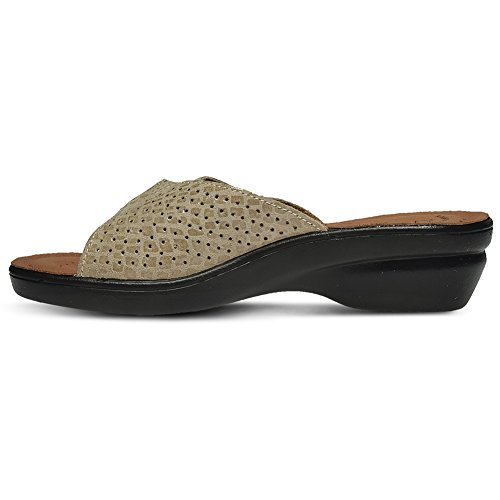 Flexus Womens Carrie Essentials Slide Sandal Beige wBzDpiD