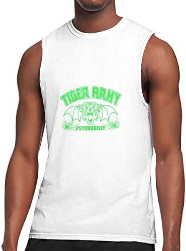 タンクトップ メンズ Tiger Armyタイガーアーミー 袖なしtシャツ ベスト スポーツ ジム用 インナーシャツ かっこいい