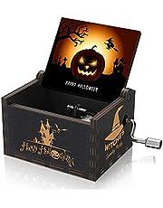 Wood Music Box Mini Hand Crank Musical Box