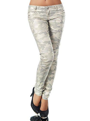 jeans Skinny Basic Jeans Camouflage Donna beige Diva fPwdEqf