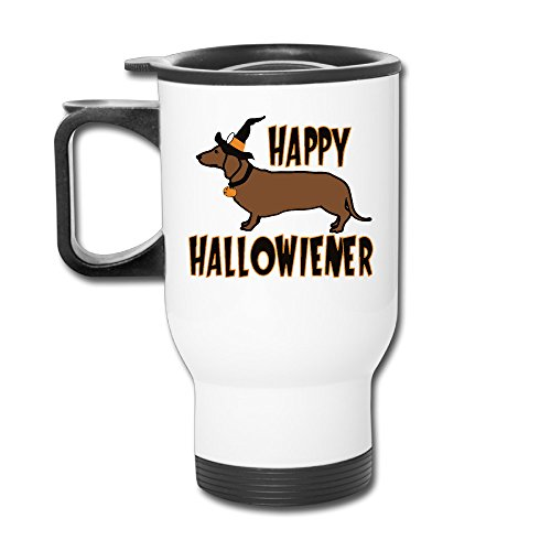 Happy Hallowiener Halloween Wiener Dog Cute Funny Travel Mugs -
