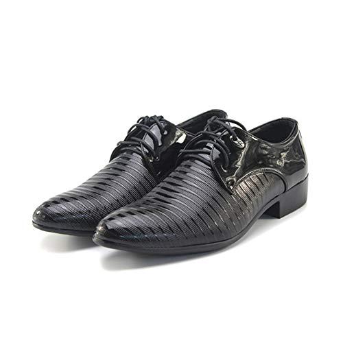 Moda Con Hombres Conducción Casuales Cordones Partido Pisos Vestir Los Negocios Del Cuero Zapatos Oficina De Pu Negro Oxfords Boda qARwH