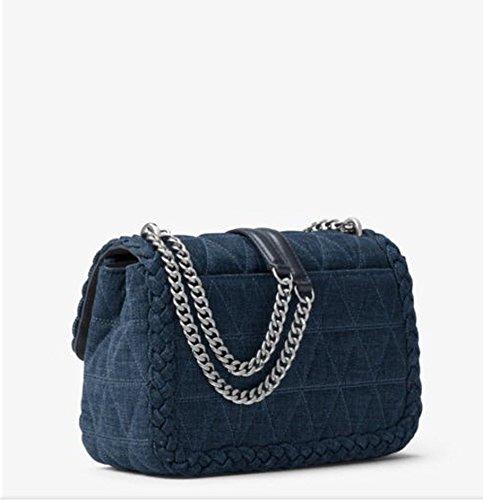 cb4ad2c5b8ad Michael kors Sloan Large Quilted-Denim Shoulder Bag in Indigo: Amazon.ca:  Shoes & Handbags