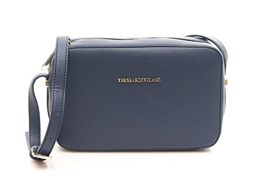 Trussardi Borsa Donna levanto Saffiano Cross-Body Blue