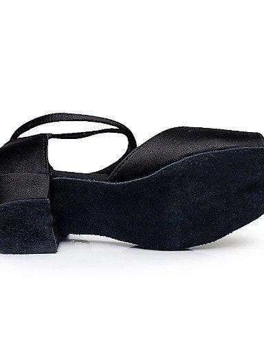 Personnalisable Shangyi Danse Ventre Latin De Flocage Talon De Chaussures Noir Gros Non De Femmes Salsa Enfants RnzxrzqEw8