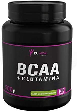 BCAA + GLUTAMINA, Sabor Limón-Hierbabuena, 500 g