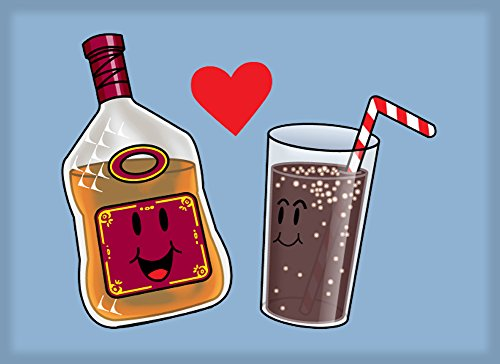 Rum and Cola Love Destined to Be Cute Humor - Rectangle Refrigerator Magnet