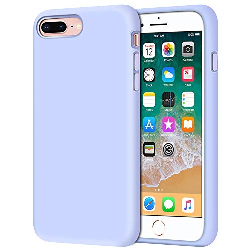 iPhone 8 Plus Case, iPhone 7 Plus Case, Anuck Soft Silicone Gel Rubber Bumper Case Microfiber Lining Hard Shell Shockproof Full-Body Protective Case Cover for iPhone 7 Plus /8 Plus 5.5