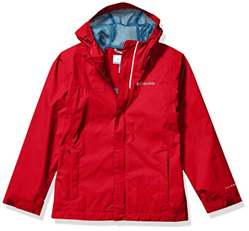 Columbia Boys' Big Watertight Jacket, Waterproof and Breathable, New Mountain Red, Small