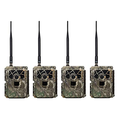 Covert Scouting Cameras Blackhawk LTE Wireless Live Video Photo Trail Camera (4 Pack)