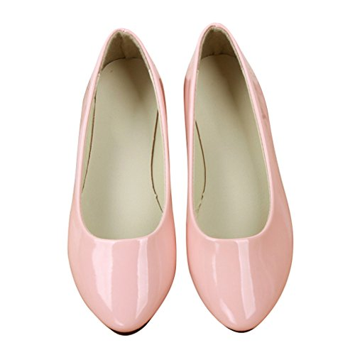 Dear Time Women Slip On Ballet Flats Pointed Toe Ballerina Shoes Pink 87JfNsHMEB