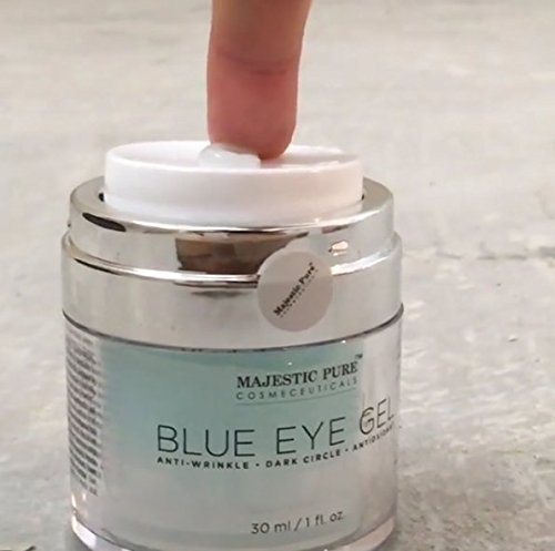 Majestic Pure Blue Eye Gel, Reduces the Appearances of Wrinkles and Dark Circles - Eye Cream Formula for Skin Tone and Resilience - 1.0 fl. oz. by Majestic Pure (Image #5)