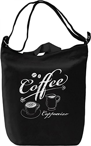 Cappuccino Borsa Giornaliera Canvas Canvas Day Bag| 100% Premium Cotton Canvas| DTG Printing|