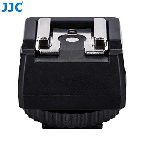 "JJC JSC-9 Hot Shoe Adapter with Cold Shoe Foot and 1/4""-20 Tripod Socket on the Bottom – Fire Flashes Off-Camera with Cameras that Have PC Socket"