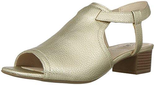 LifeStride Women's Mona Heeled Sandal, Gold, 8 M (Lifestride Shoes Com)