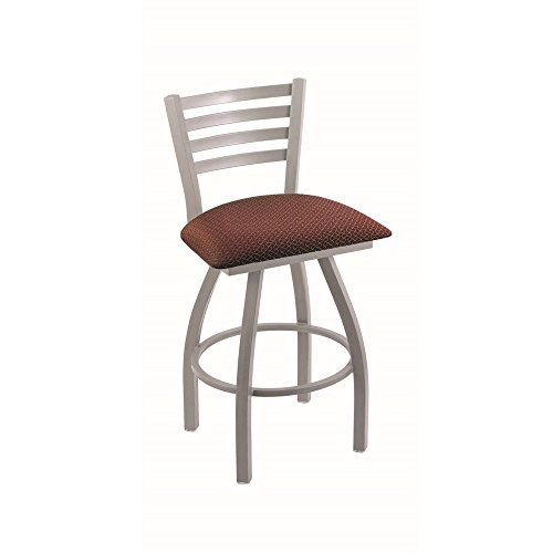 Holland Bar Stool Co. XL 410 Jackie Anodized Nickel Swivel Counter Stool, Axis - Counter Paprika