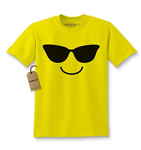 Kids Emoticon SUNGLASSES T-Shirt Small - Smiley Sunglasses Face