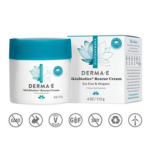 DERMA E Skinbiotics Rescue Cream, Calms Skin Concerns, 4 oz