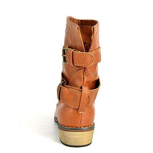 Ankle Womens HERRICO Buckle Boots Camel Fashion dtd7Zwq