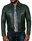 Laverapelle Men's Genuine Lambskin Leather Jacket (Green, Medium, Polyester Lining) - 1501200