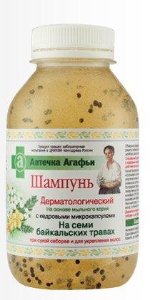 "Shampoo Dermatological Based on the Soap Roots with Cedar Microcorpuskules and Herbs 300 Ml ""Recipes Grandma Agafia"""