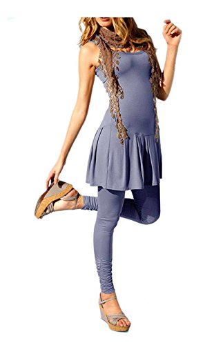 Heine Best connectios robe de robe avec dentelle Jupon Taille 40Bleu