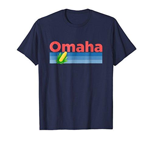 Omaha, Nebraska Retro Corn -  Omaha T-Shirt (Omaha Kalifornien)