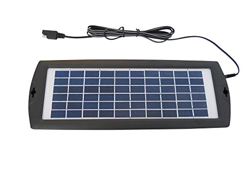 Sunway Solar Battery Trickle Charger And Maintainer 15V 3W Portable and Backup For Any Rechargeable Car Vehicle Motorcycle Boat Auto 12V Battery (Lithium Ion Deep Cycle compare prices)