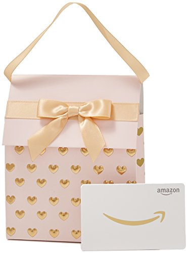 Amazon.com Gift Card in a Pink and Gold Gift Bag