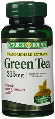 Nature's Bounty Green Tea Extract, 315mg, 100 Capsules (Pack of 2) (Tea Green Vitamins)