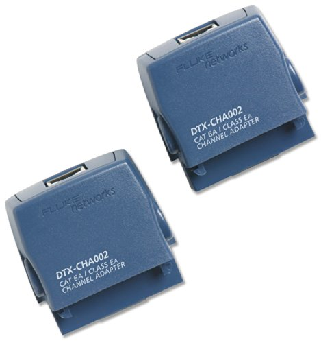 Fluke Networks DTX-CHA002S Cat 6A/Class EA Channel Adapters (Set of 2) for DTX CableAnalyzer Series ()