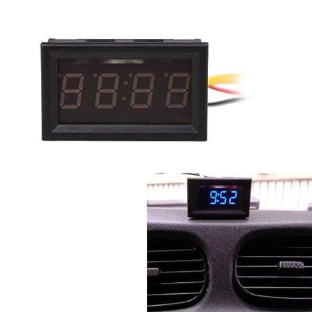 Taoytou Orologio elettronico Digitale a 4 cifre 1 cm per Auto e Moto