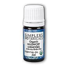 Organic Mugwort, 5 ml by Simplers Botanicals (Pack of 1)