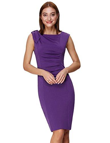 GRACE KARIN Women's Plus Size Sleevesless Shift Dress for Evening Size 2XL Purple