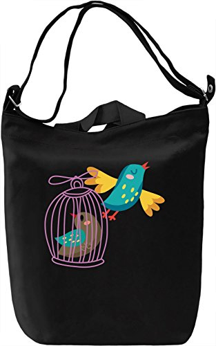 Bird cage Borsa Giornaliera Canvas Canvas Day Bag| 100% Premium Cotton Canvas| DTG Printing|