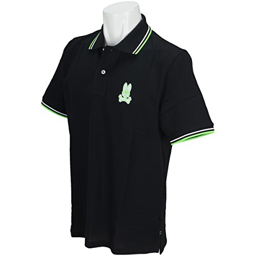 ペチコート冷蔵するシャットサイコバニー PSYCHO BUNNY 半袖シャツ?ポロシャツ ネオンロゴ半袖ポロシャツ