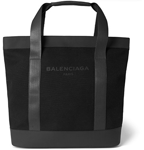 Balenciaga Canvas & Leather Tote, Noir Black