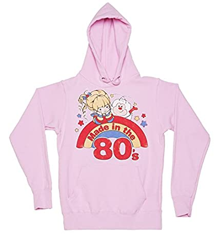 fe42769b698 Womens Rainbow Brite Made in The 80s Hoodie at Amazon Women s Clothing store