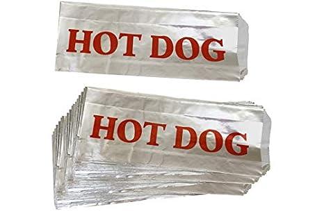 Amazon.com: Bolsas para perros calientes de papel de ...