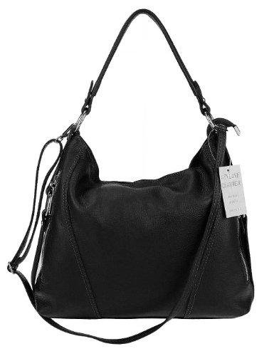 37x47x17 Women Made Black Cm Italy bxhxt Black For Shoulder Bag 67wZBYa7q