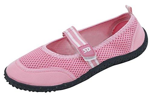 A2b910s Donna 4 Colori Acqua Scarpe Aqua Calze Cinghia Regolabile Scivolo Atletico Su Piscina Spiaggia Surf Yoga Danza Esercizio Rosa