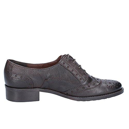 Donna de Marrón Marrón de Cordones Zapatos PIU Mujer Piel Oscuro para aqxr4a