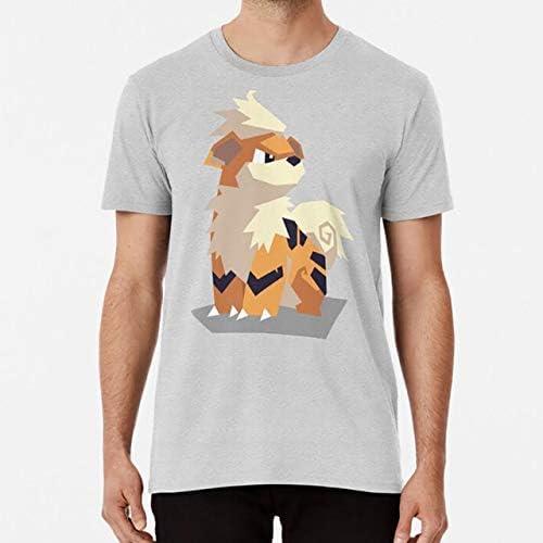 T-Shirts - Cutout Growlithe t shirt avertis fire puppy growlithe wind waker cutout mash up (grey XXL)