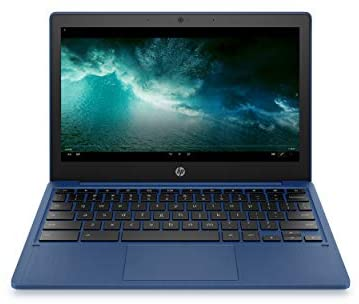 HP Chromebook 11-inch Laptop - MediaTek - MT8183 - 4 GB RAM - 32 GB eMMC Storage - 11.6-inch HD Display - with Chrome OS - (11a-na0030nr, 2020 Model, Indigo Blue)