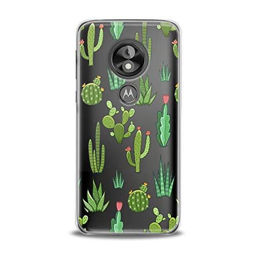 Lex Altern TPU Case for Motorola Moto G7 Power One P30 P40 Note G6 Z4 Kawaii Cacti Pattern Cute Green Cactus Awesome Clear Phone Cover Lightweight Women Soft Silicone Plant Flexible Girl Trendy Glam