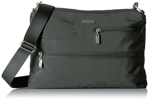 Baggallini Tablet Crossbody CHL Messenger Bag, Charcoal, One Size